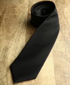 Black Wait staff tie. Women's tie. Men's tie