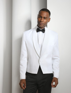 Formal wait staff uniform white eton jacket
