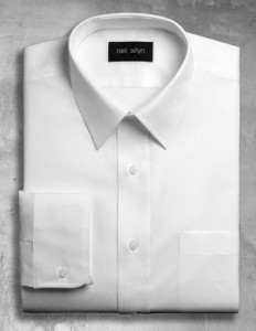 white wait staff shirt