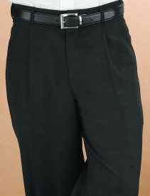 Men's black wait staff trouser